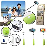 UFCIT Universal Wireless Extendable Self-portrait Bluetooth Monopod Handheld Selfie Stick Monopod for iPhone Samsung and other IOS and Android Smartphone (Green)