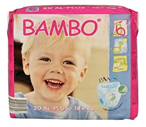 Bambo Pull-up Training Pants T XL Plus 18+kg, 40+lb - 6 x packs of 20 (120 Nappies)