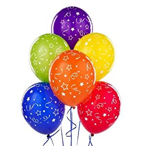 Funcart Assorted Colors Confetti Printed Balloons