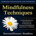 Mindfulness Techniques: Guided Meditation and Hypnosis Collection for Increased Mindfulness and Positive Thinking Speech by  SereneDream Studios Narrated by  SereneDream Studios