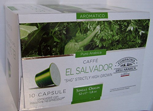 "Buy Nespresso Compatible Capsules SINGLE ORIGIN Compagnia dell'Arabica - EL SALVADOR ""SHG"" STRICTLY HIGH GROWN - 10 caps / box (TOTAL: 30 caps) - Compagnia dell'Arabica - a Caffe Corsini S.p.A. company Group"