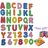 Idealhere お風呂用おもちゃ/入浴おもちゃ abc+123 36セット アルファベットと数字のお勉強 +動物英語知育布絵本