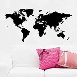 """23.6"""" X 149.6"""" Large Global World Map Wall Sticker Decor Graphic Mural DIY Vinyl Wall Art Removable Wall Decor Room Home Adhesive Office . from ColorfulHall"""