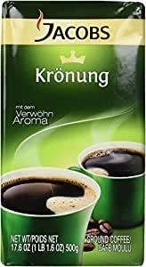 Jacobs Kronung Ground Coffee, Pack of 2- 17.6ounces