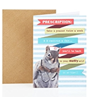 Squirrel Get Well Greetings Card