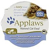 Applaws Cat Pot Luxury Tuna Fillet with Prawn 10 x 60 g