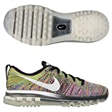 Nike Air Max Flyknit Running Women s Shoes Size BLACK/WHITE-PINK POW-CHLORINE BLUE/MULTI-COLOR 8 B(M) US