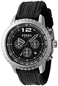 Fossil Men's Chronograph Black Dial CH2571 Rubber Analog Quartz Watch with Black Dial