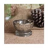 Creative Co-op Scalloped Mercury Glass Votive