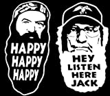 Duck Dynasty Phil Robertson Uncle Si Decal 2 Pack Decal/Sticker 6&quot; White