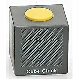 Talking Cube Alarm Clock. Grey/Yellow Comes with 4 x AA Batteries