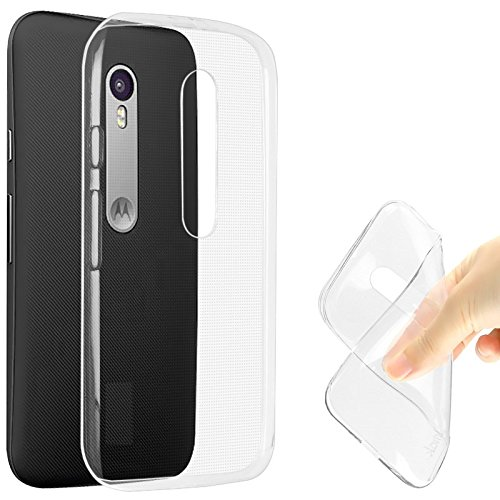 Kapa 0.3MM Ultra Thin Soft Silicone TPU Silicone Flexible Transparent Back Case Cover for MOTO G3 / Moto G (3rd Gen)