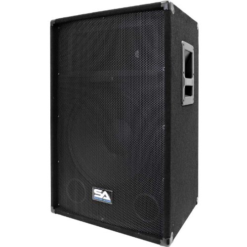Seismic Audio Sa-15T-Pw 350W Active Powered 2-Way 15-Inch Pa/Dj Speaker Cabinet With Titanium Horn