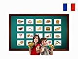 Tarjetas Educativas Francés - Alimentation - Food and Drinks Flashcards in French