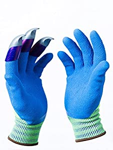 Honey Badger Garden Gloves Plastic Claws On Left Hand Only 1 Pair Digging Gloves