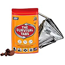 buy Emergency Blanket All Weather Waterproof Mylar Technology Survival Blanket Safety Foil Reflecting Retaining Heat In Extreme Weather (5 Pack) + Survival Food For Running Survival Tabs 2-Day Food Supply 24 Tabs Emergency Food Ration Survival Mres Meals Read