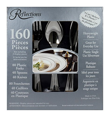 Reflections 160-Piece Plastic Silverware