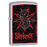 Zippo Slipknot Logo Pocket Lighter, Satin Chrome
