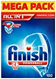 Finish Powerball All in 1 Mega Pack 100 Dishwasher Tablets