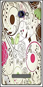 Snoogg Retro Floral Background Designer Protective Back Case Cover For HTC Windows Phone 8S