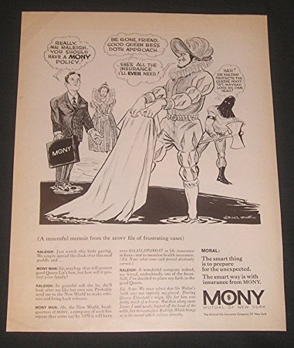1970-print-ad-mutual-of-new-york-life-insurance-mony-art-illustration-sir-walter-raleigh-lost-his-he