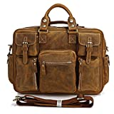 Vincenzio Fine Grain Heavy Duty Leather Men's Briefcase Messenger Laptop Bag Review thumbnail