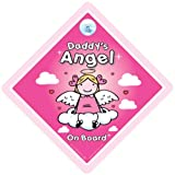 Daddys Angel On Board Daddys little angel on board Angel on board Sign Baby On Board Sign Daddys Angel Car Sign baby on board decal bumper sticker baby sign baby car sign Paternity maternity Baby Car Sign Baby Shower