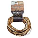 1mm Satin Rattail Braiding Cord Warm Neutrals 12 Yards For Kumihimo and Craft