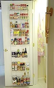 24 Inch Wide Adjustable Door Rack Pantry Organizer