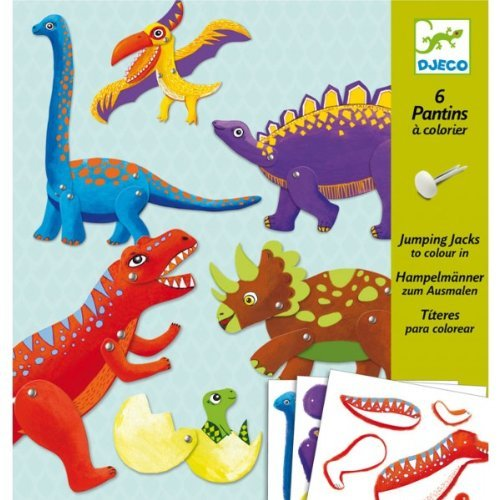 Djeco Dinosaur Puppet Paper Craft Kit - 1