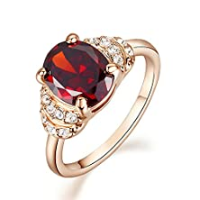 buy Yoursfs Kate Princess Style Rose Gold Plated Red Simulated Diamond Engagement Rings (6)