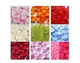 KISKIS dreampark 9色 1200枚 セット フラワーシャワー バラ の 演出 花びら 造花 (結婚式 ウエディング 二次会 パーティー) 生花 風 (9色 1200枚 タイプA)KK143