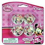 Disney Minnie 4Pk Mini Spinning Tops Case Pack 24