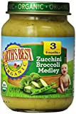 Earths Best Organic Baby Food, Zucchini Broccoli Medley, 6 Ounce (Pack of 12)