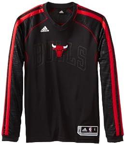 NBA Chicago Bulls On-Court Long Sleeve Shooter, Medium, Black by adidas