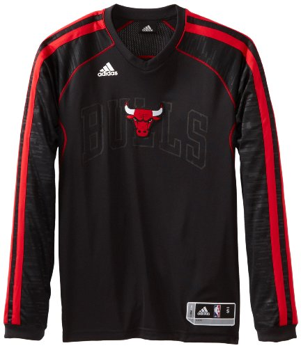 NBA Chicago Bulls On-Court Long Sleeve Shooter, Medium, Black at Amazon.com