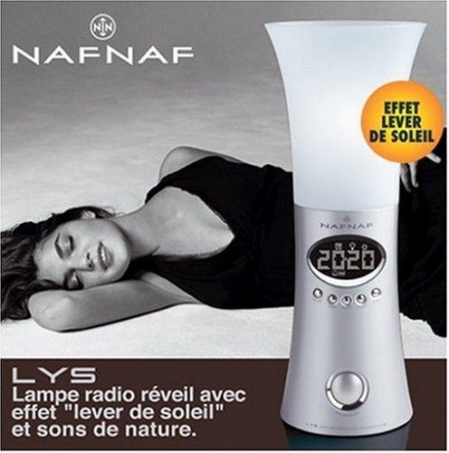 Naf Naf LYS V3 Digitale Radiowecker mit Lampe silber