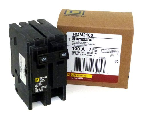 Square D Circuit Breaker, 100 Amp, 2-Pole, Hom2100
