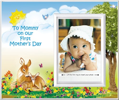 To Mommy on Our First Mother's Day (Fawn) - Picture Frame Gift