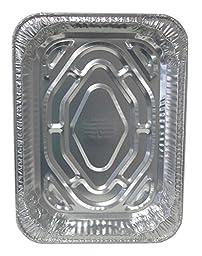 Durable Packaging 41110 Disposable Aluminum Rectangular Roasting Pan, Extra Large, 18\