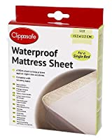 Clippasafe Waterproof Mattress Sheet (Single Bed) by Clippasafe Ltd
