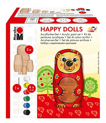 Marabu 143000005 - acrílico, ¡felices muñecas, multicolor