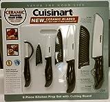 Cuisinart 8 Piece Ceramic Kitchen Prep Set with Cutting Board
