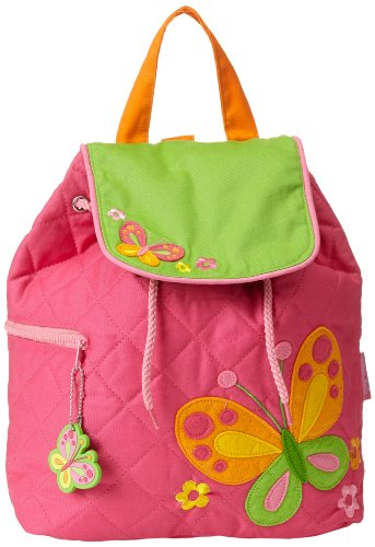 Stephen Joseph Little Girls' Quilted Backpack, Butterfly, One Size