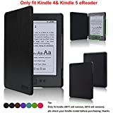 ACdream (TM) Kindle 5 & Kindle 4 Case - Ultra Slim Leather Cover Case for Kindle 4 & kindle 5 With Magnet Closure(Only Fit Kindle (2011 old version and 2012 old version 6'' E link ebook);does not fit kindle 7th generation 2014 Version Or kindle paperwhite / kindle touch)-Black