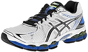 ASICS Men's Gel-Nimbus 16 Running Shoe,White/Black/Royal,9 M US
