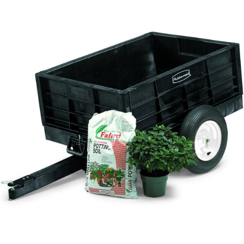 Rubbermaid Commercial Fg566261Bla Unassembled Structural Foam Tractor Cart, 750-Pound Capacity