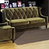 Barrister Velvet Sofa and Loveseat Set in Green Upholstery: Green