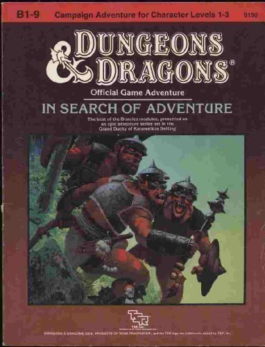In Search of Adventure: The Grand Duchy of Karameikos Anthology (Dungeons and Dragons Supermodule B1-9) (Dungeon Module B1 compare prices)