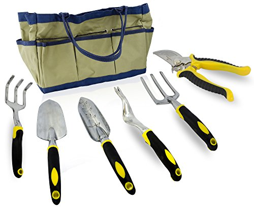 7 piece gardening tool set durable aluminum alloy and for Ladies garden trowel set